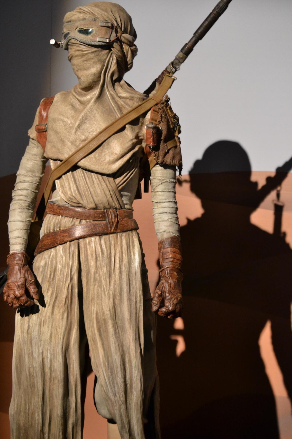 Lucca 2015: Riproduzione di Rey al padiglione Star Wars