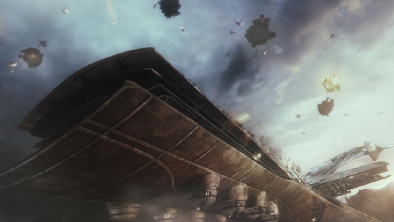 Garm Wars: L'ultimo druido, una scena del film diretto da Mamoru Oshii