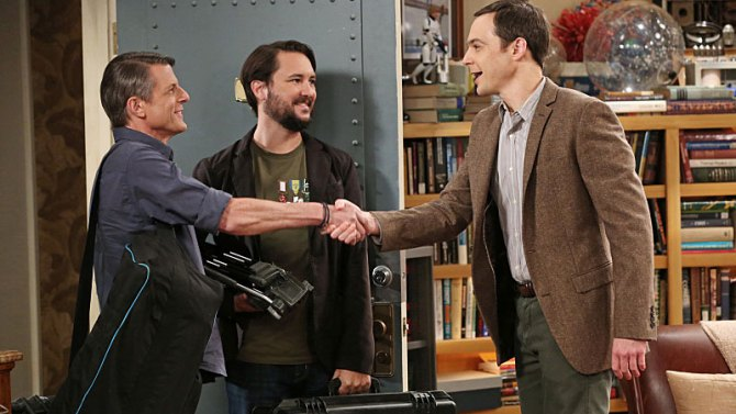 The Big Bang Theory: Jim Parson e Wil Wheaton nell'episodio The Spock Resonance