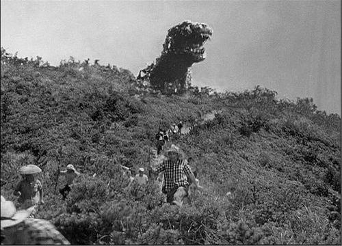 Un'immagine del film Godzilla del 1954