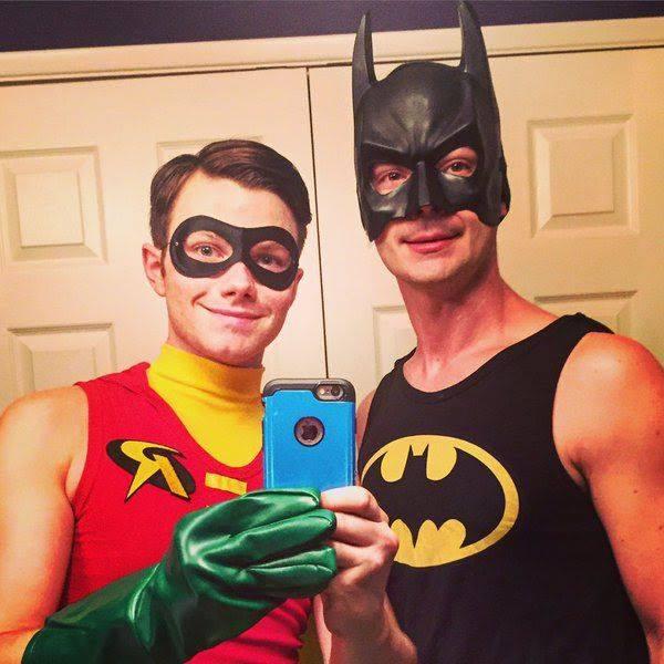 Chris Colfer e il fidanzato Will Sherrod, Halloween 2015