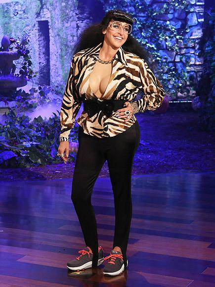 Ellen Degeneres vestita come la sorella segreta delle Kardashian, Halloween 2015
