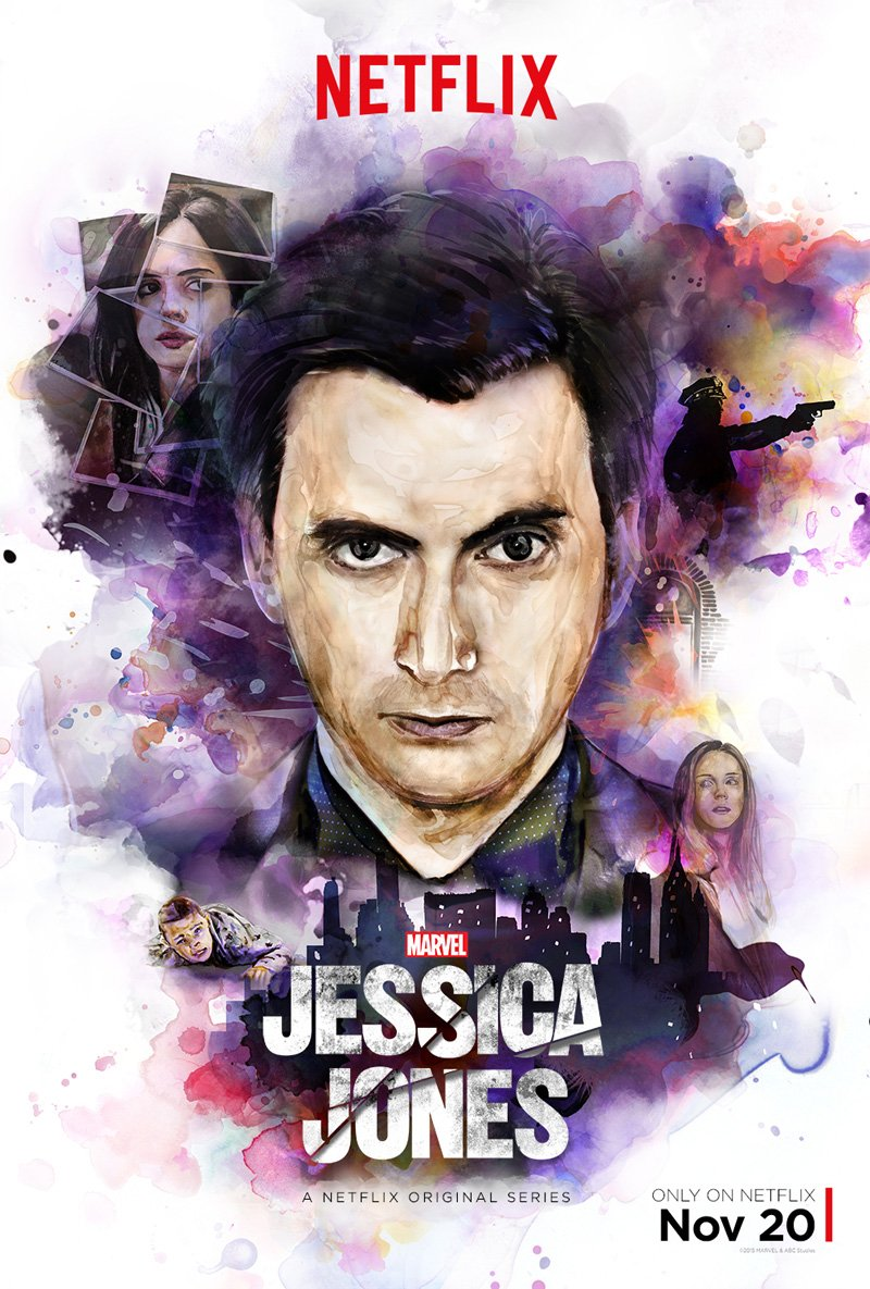 Jessica Jones: la locandina dedicata a David Tennant