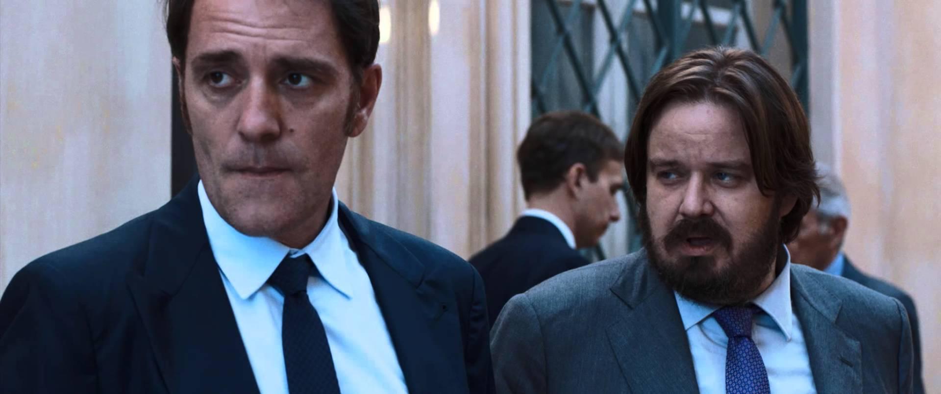 La felicità è un sistema complesso: Valerio Mastandrea e Giuseppe Battiston in una scena del film