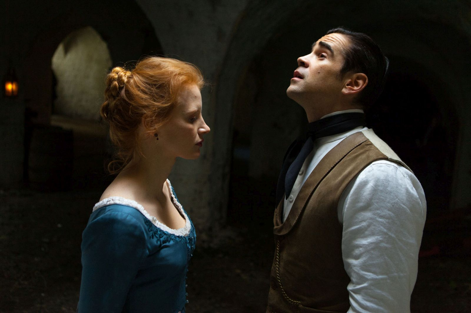 Miss Julie: Jessica Chastain e Colin Farrell in una scena del film