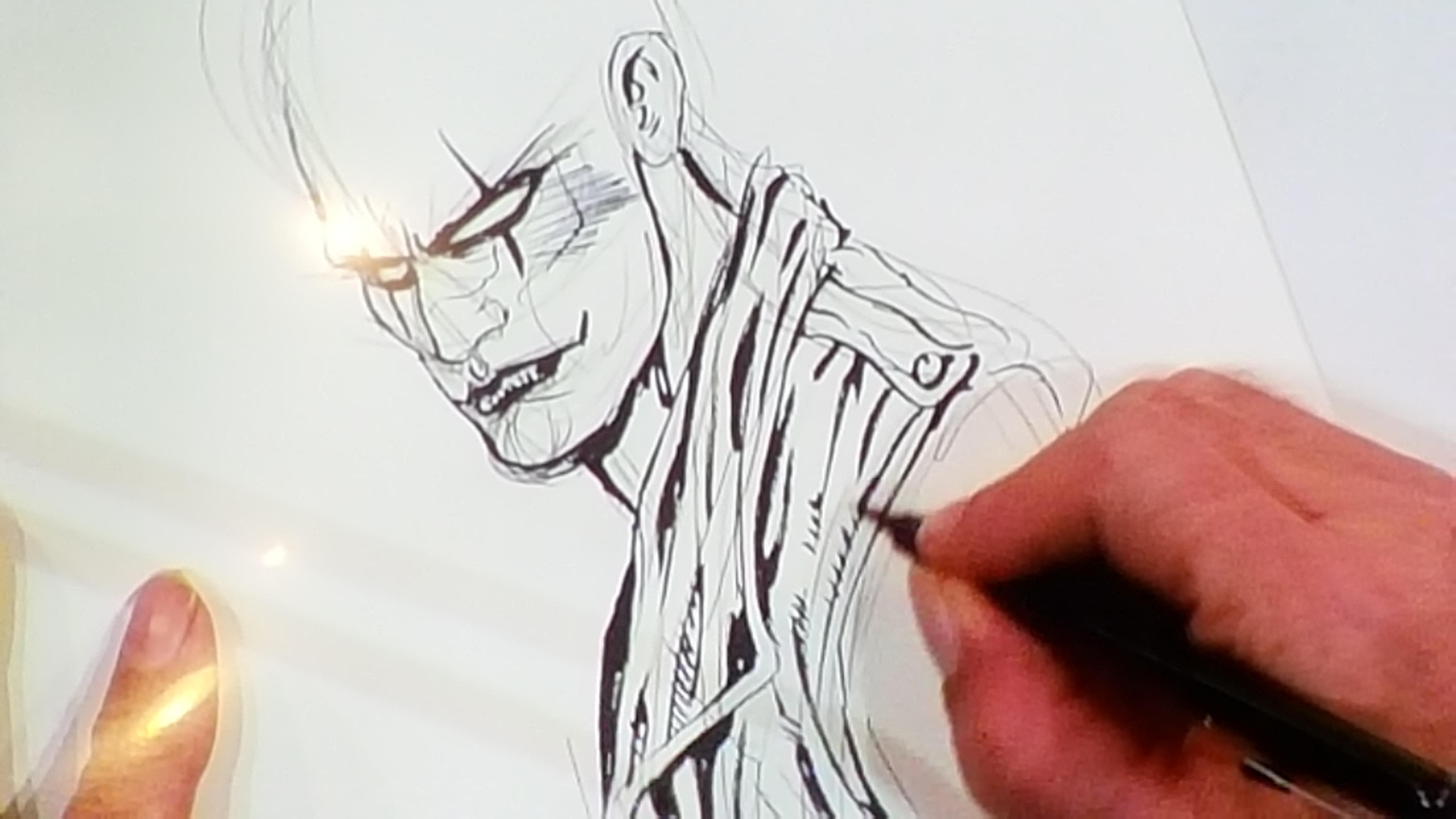 Il risultato delle matite e del pennello di James O'Barr a Lucca Comics 2015