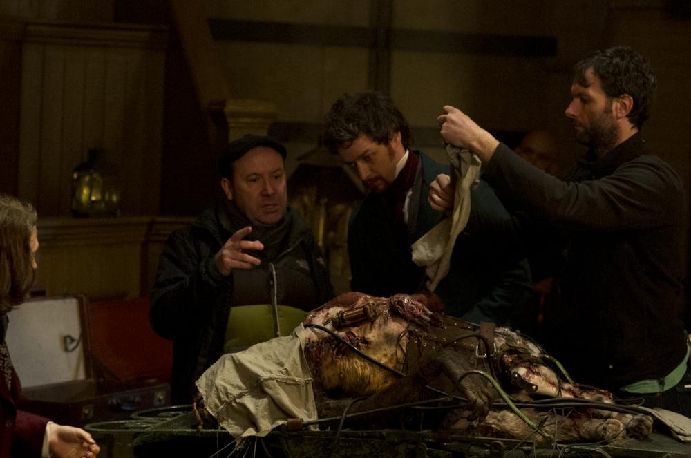 Victor - La storia segreta del Dott. Frankenstein: James McAvoy sul set del film