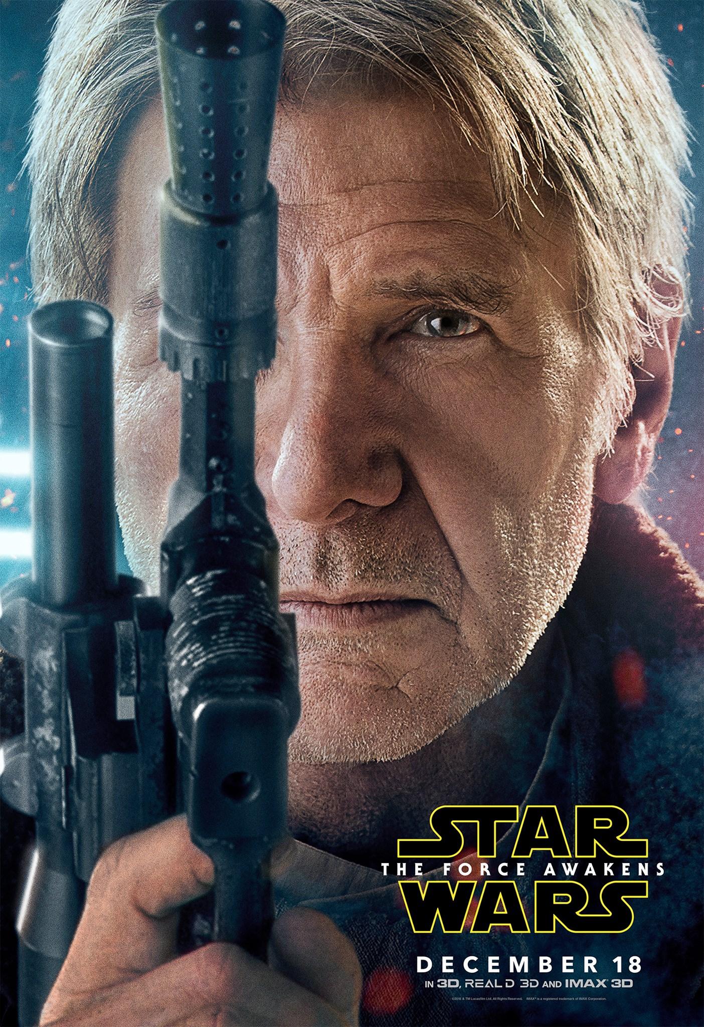 Star Wars: Episodio VII - Il Risveglio della Forza: il character poster di Harrison Ford