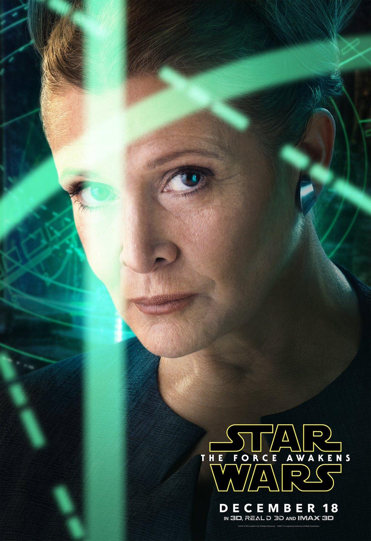 Star Wars: Episodio VII - Il Risveglio della Forza: il character poster di Carrie Fisher