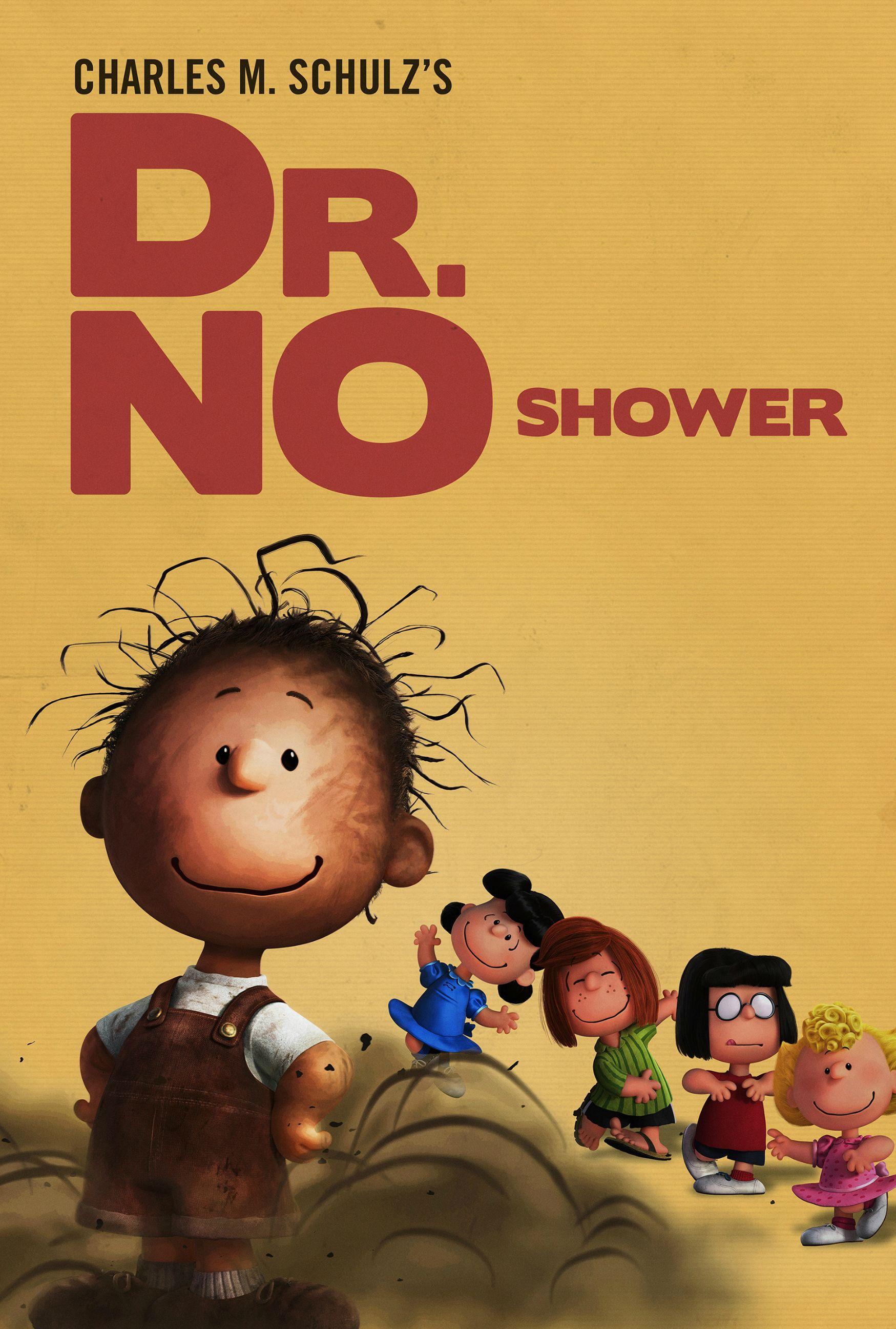 Snoopy & Friends: Pigpen nel poster parodia dei film di James Bond