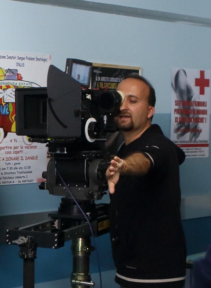 Daniele Poli sul set