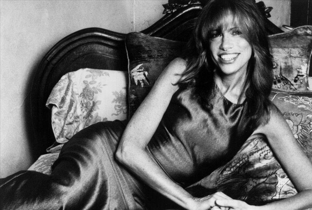 La cantante Carly Simon in un'immagine d'epoca
