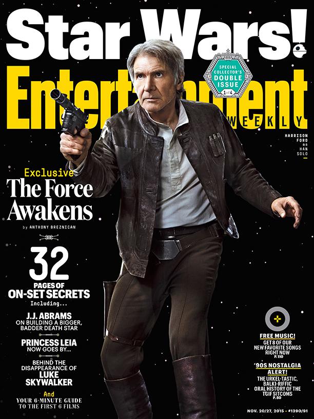 Star Wars: Il Risveglio della Forza - La copertina di Entertainment Weekly dedicata a Harrison Ford