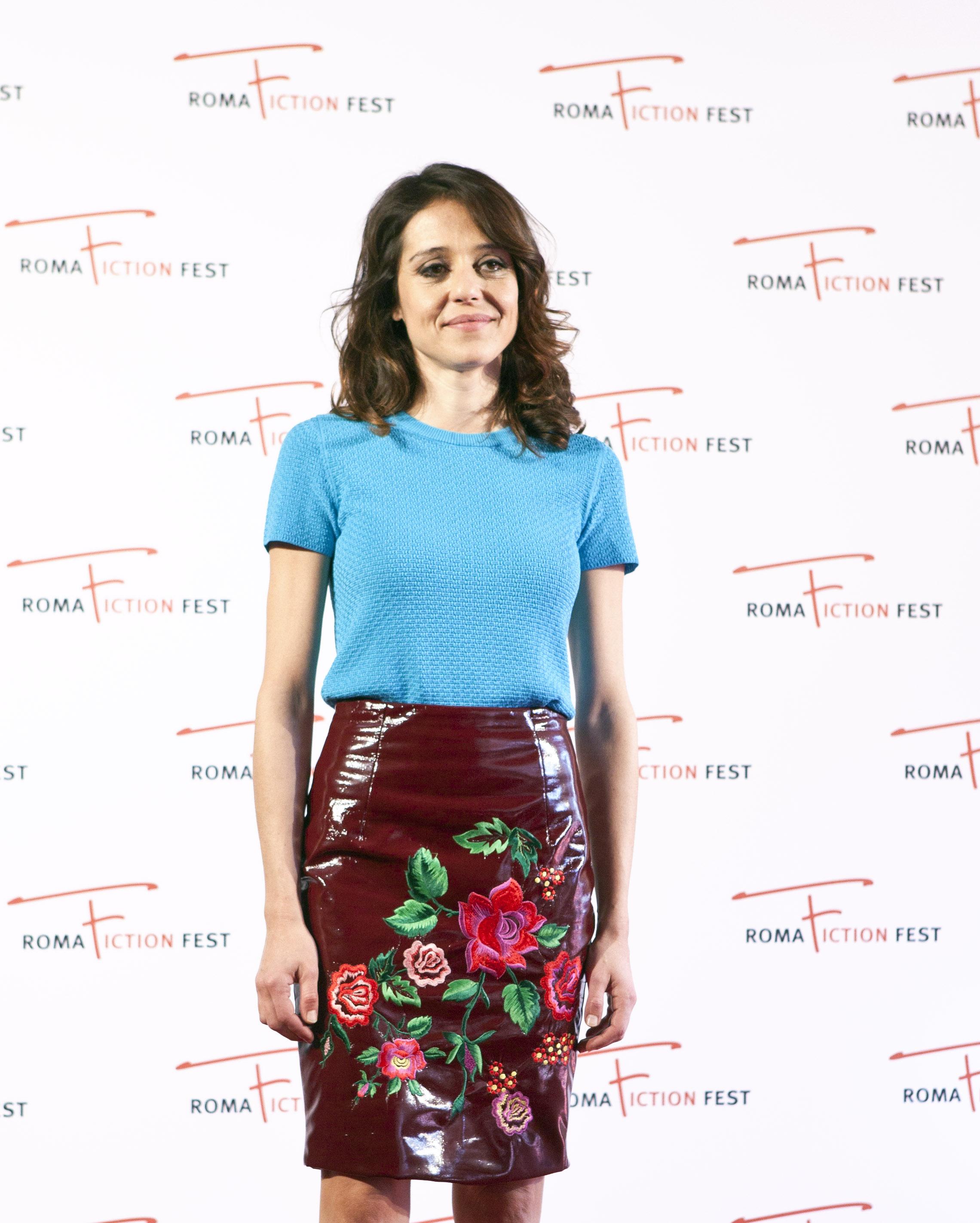 Lea: Vanessa Scalera al photocall del Roma Fiction Fest