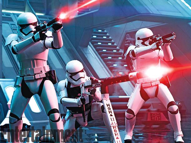 Star Wars: Il Risveglio della Forza - Una foto degli stormtrooper durante un combattimento