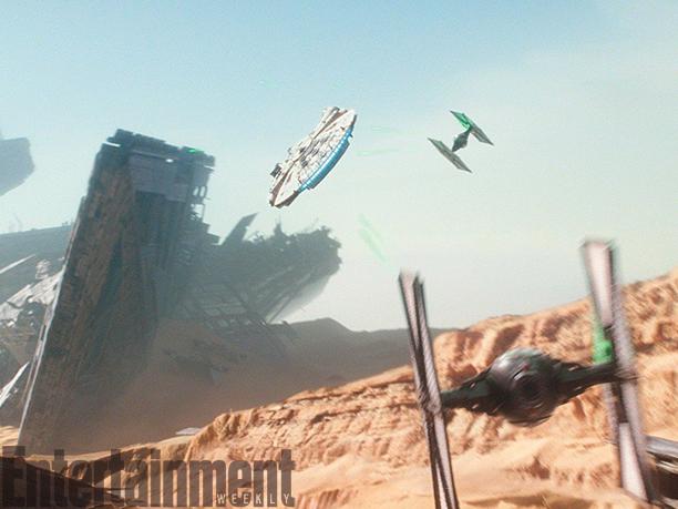 Star Wars: Il Risveglio della Forza - La foto di una spettacolare scena d'azione