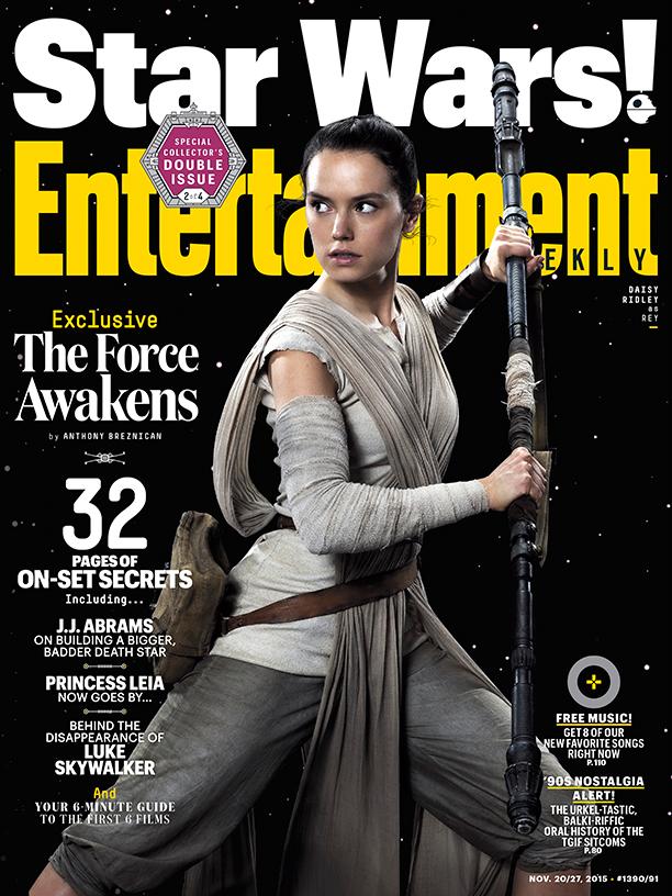 Star Wars: Il Risveglio della Forza - La copertina di Entertainment Weekly dedicata a Rey
