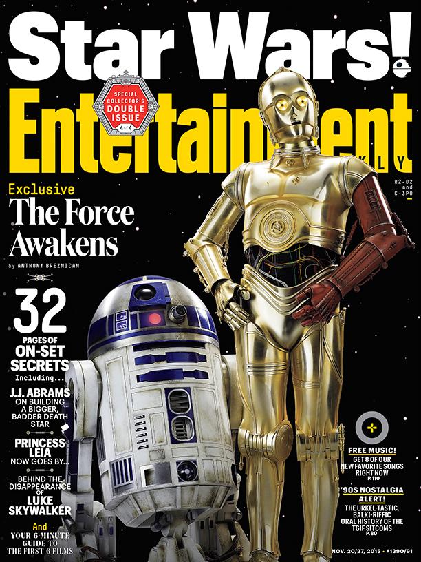 Star Wars: Il Risveglio della Forza - La copertina di Entertainment Weekly dedicata a R2D2 e C3PO
