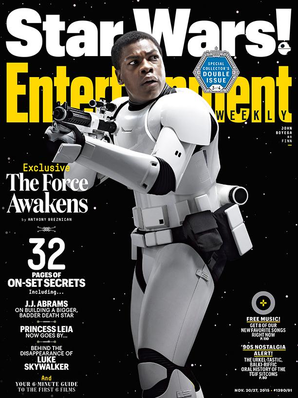 Star Wars: il risveglio della forza - La copertina di Entertainment Weekly dedicata a John Boyega