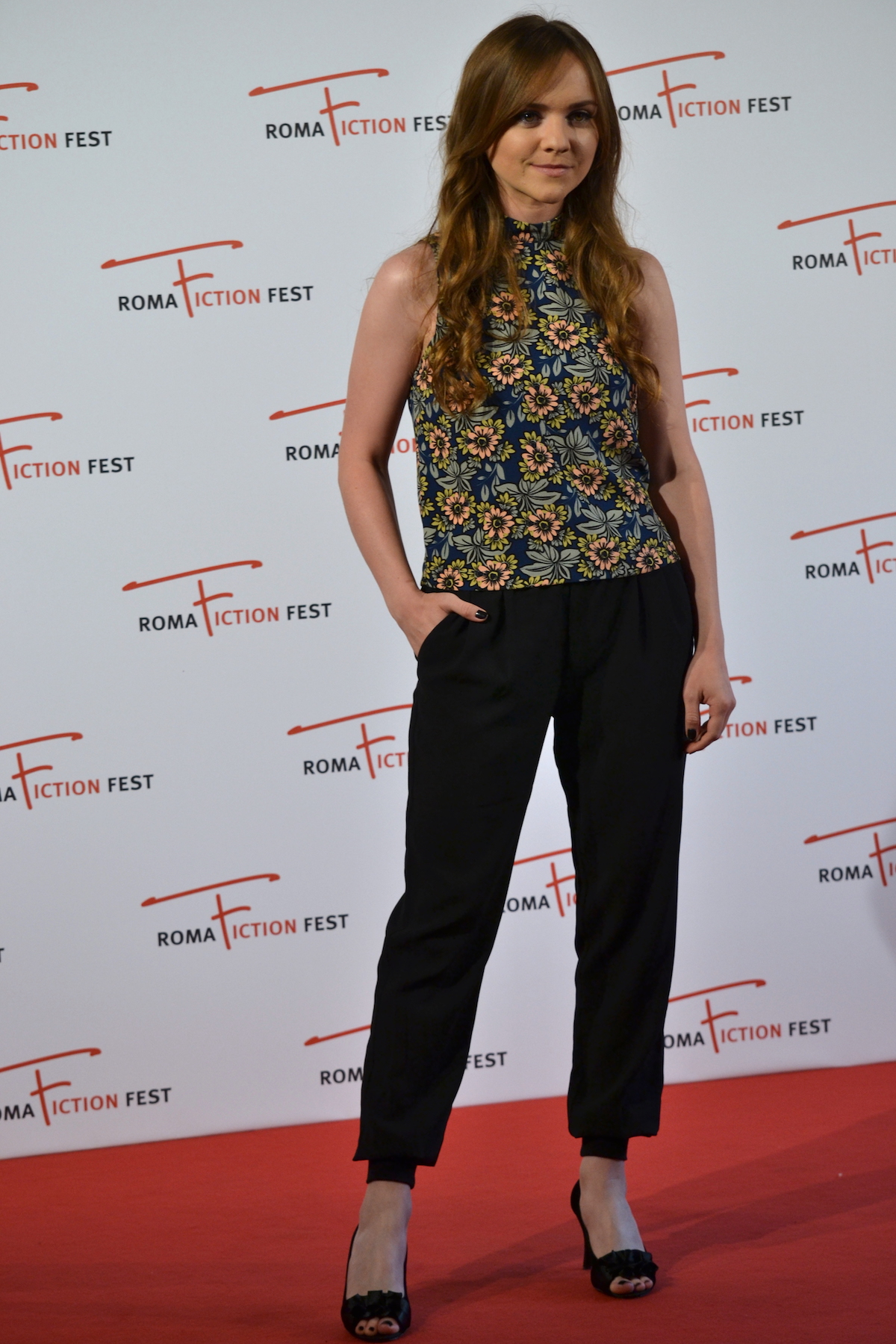 Roma Fiction Fest 2015: Tara Lynne Barr posa al photocall di Casual