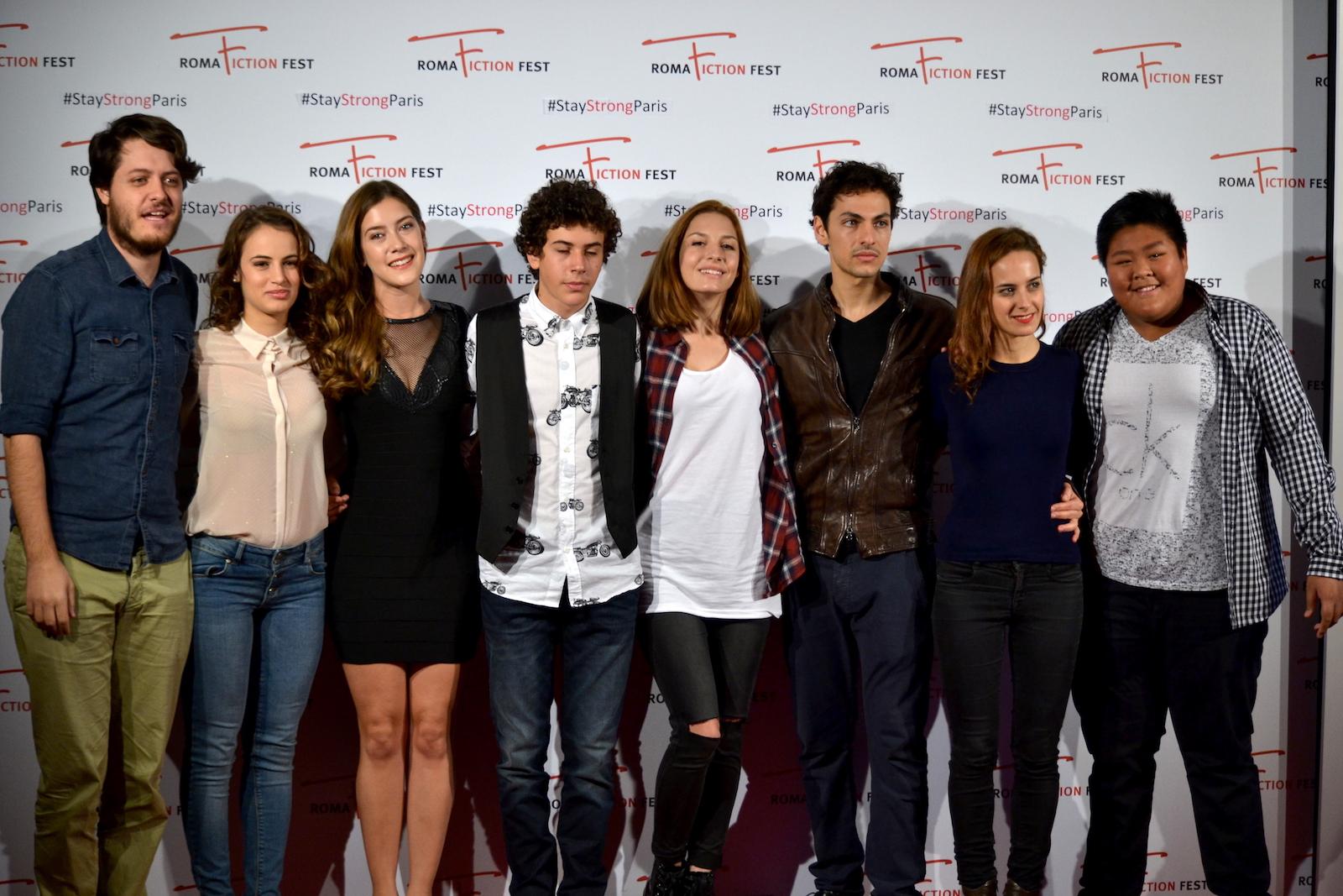 """Roma Fiction Fest 2015: Claudio Di Biagio, Mirko Trovato, Clara Alonso, Tommaso Renzoni, Nicola Serra al photocall di """"Lontana da me"""""""