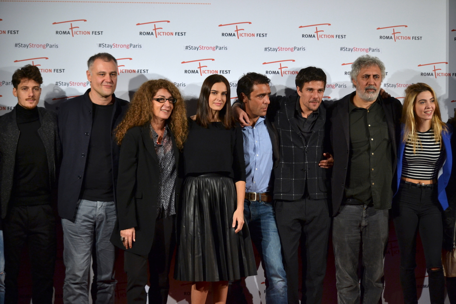 Roma Fiction Fest 2015: Lucio Pellegrini, Kasia Smutniak, Adriano Giannini, Antonio Folletto, Francesco Piccolo, Domenico Diele, Melania Mazzucco al photocall di Limbo