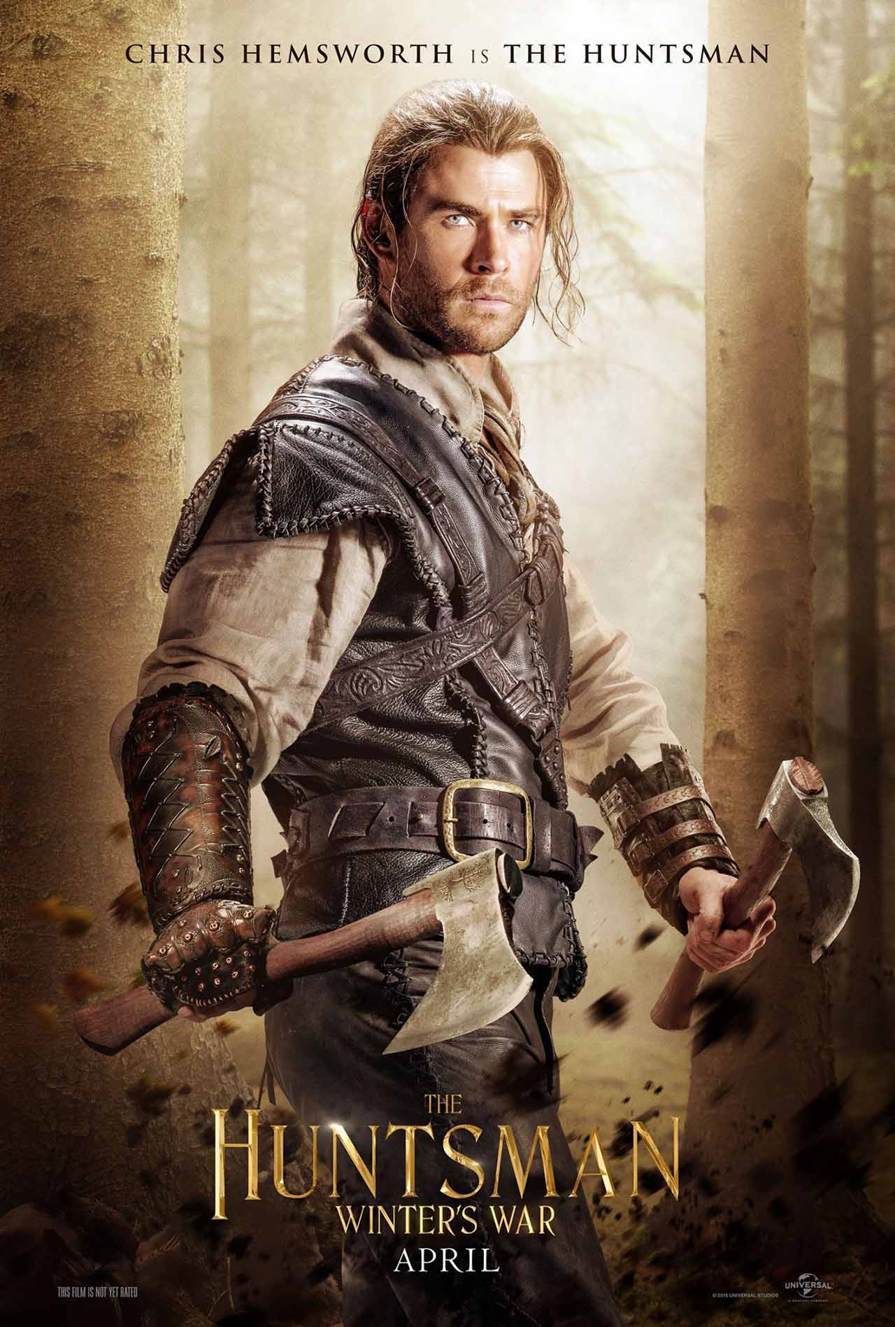 The Huntsman Winter's War: Christ Hemsworth nel character poster dedicato al Cacciatore