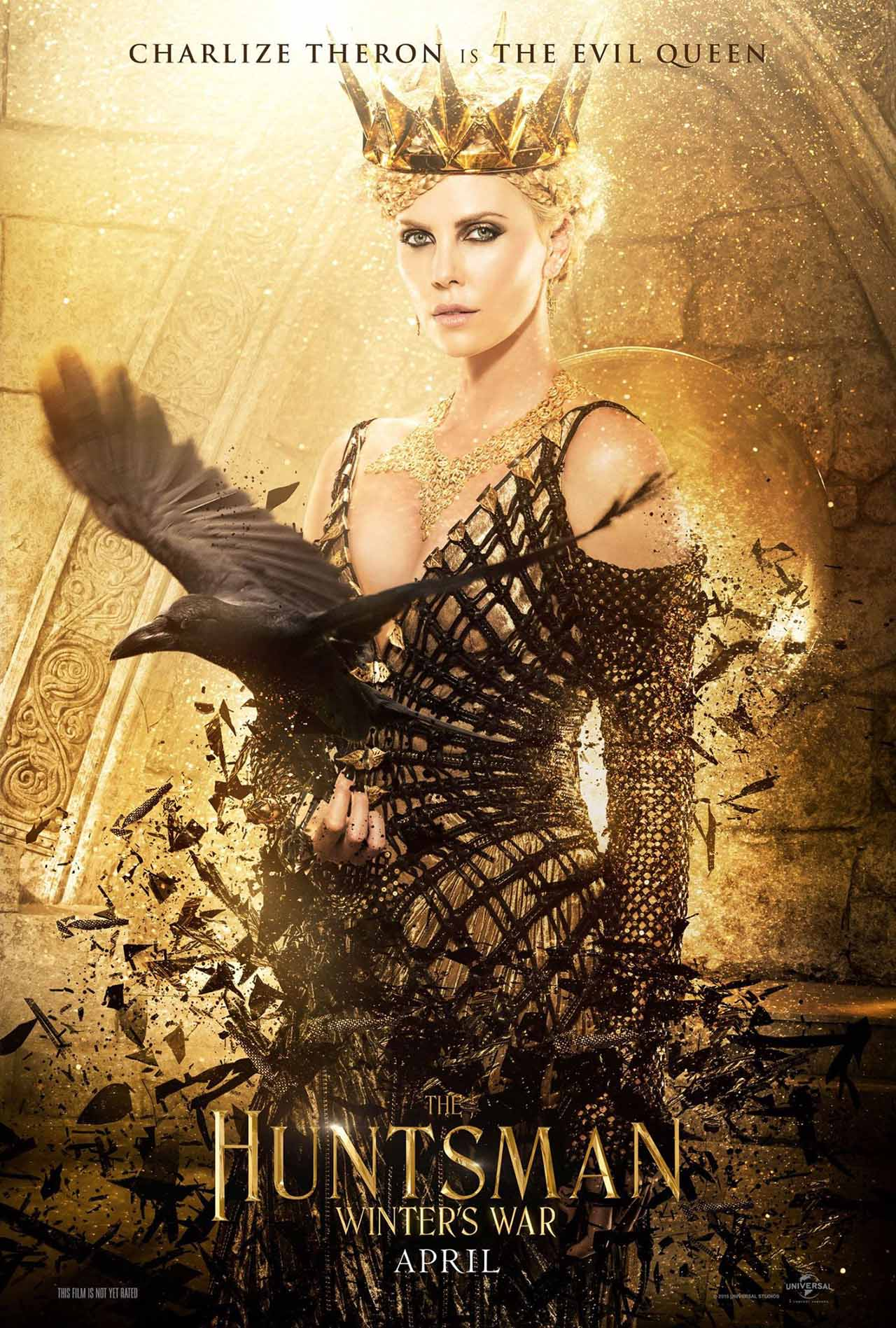 The Huntsman Winter's War: il character poster della Regina Ravenna interpretata da Charlize Theron