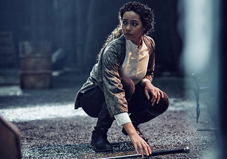 Into the Badlands: una foto di Madeleine Mantock