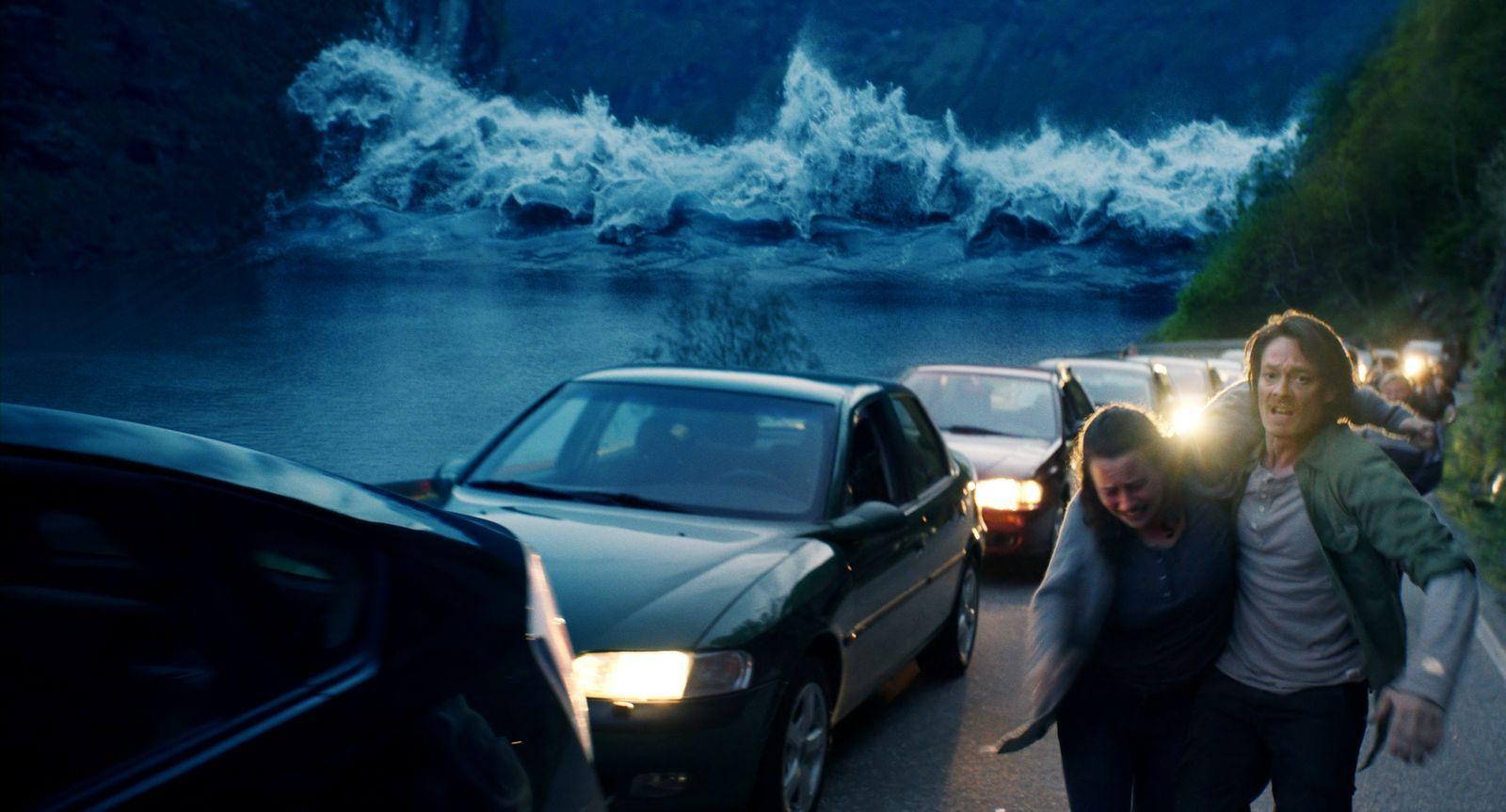 The Wave: una scena d'azione del film