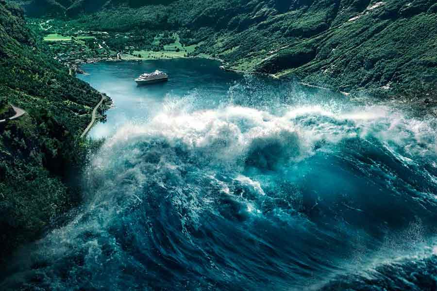 The Wave: lo tsunami in azione in una scena del film