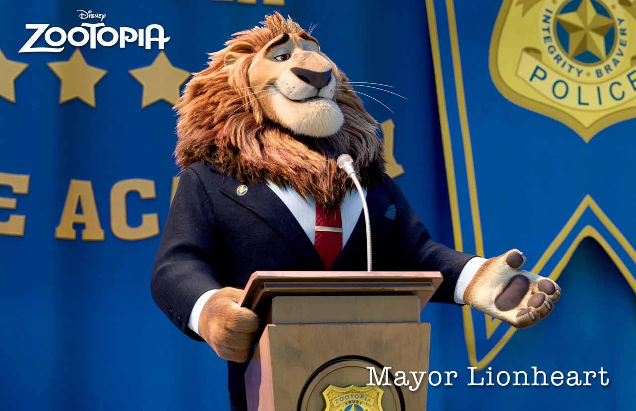 Zootropolis: un'immagine del sindaco Lionheart