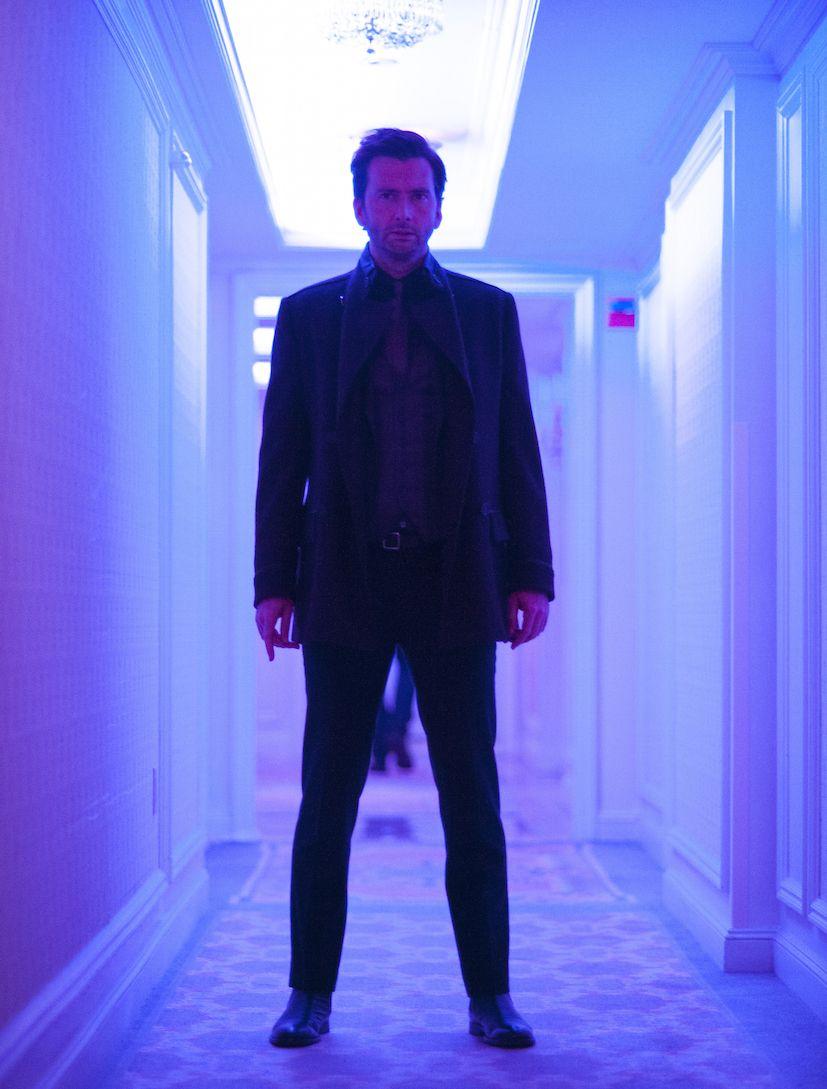 Jessica Jones: l'attore David Tennant in una foto della serie di Netflix