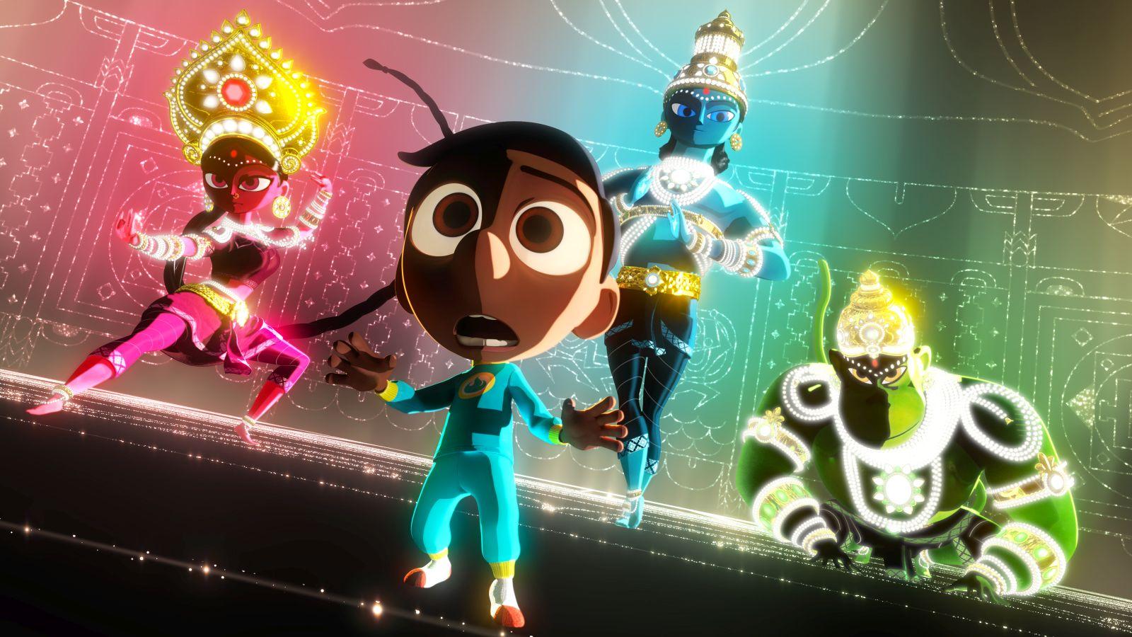 Il super team di Sanjay: una scena del cortometraggio d'animazione