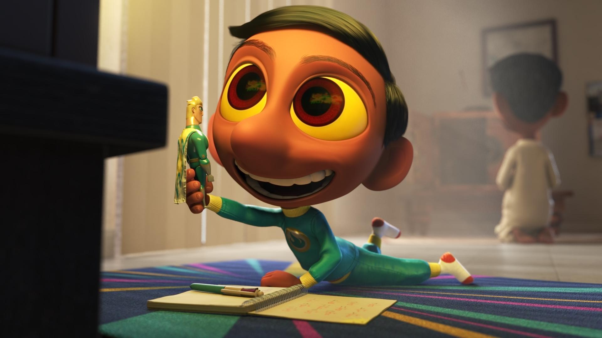 Il super team di Sanjay: una scena del corto targato Pixar