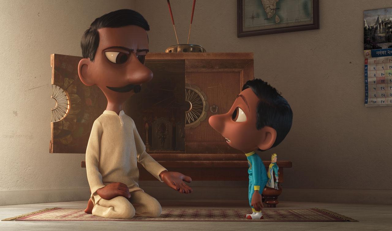 Il super team di Sanjay: un momento del corto animato