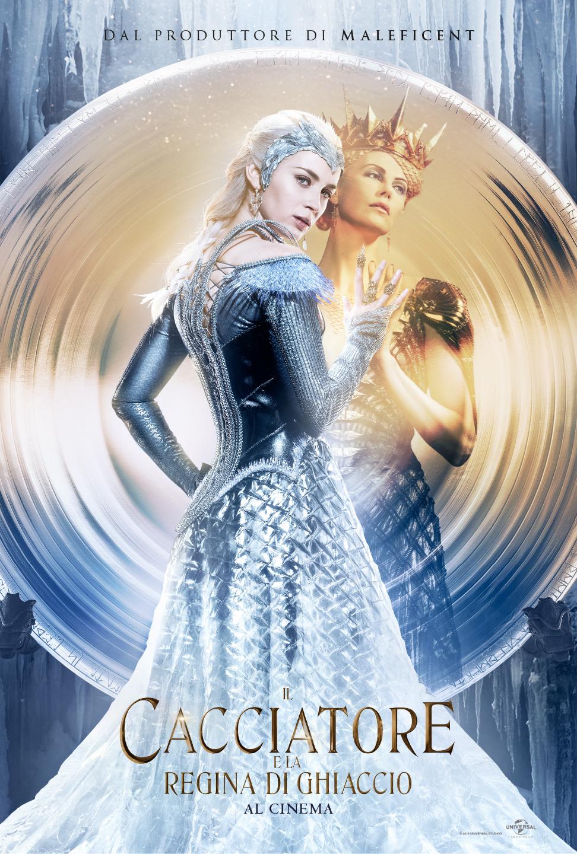 Il Cacciatore e la Regina di ghiaccio: il character poster con Charlize Theron ed Emily Blunt insieme