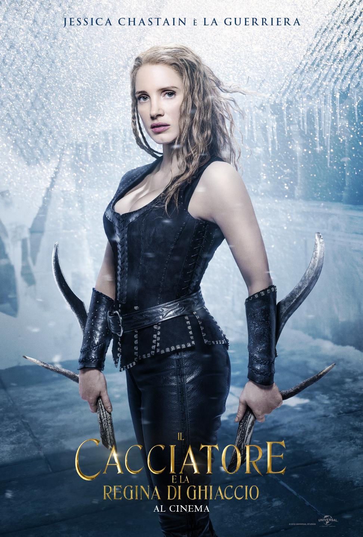 Il Cacciatore e la Regina di ghiaccio: il character poster di Jessica Chastain