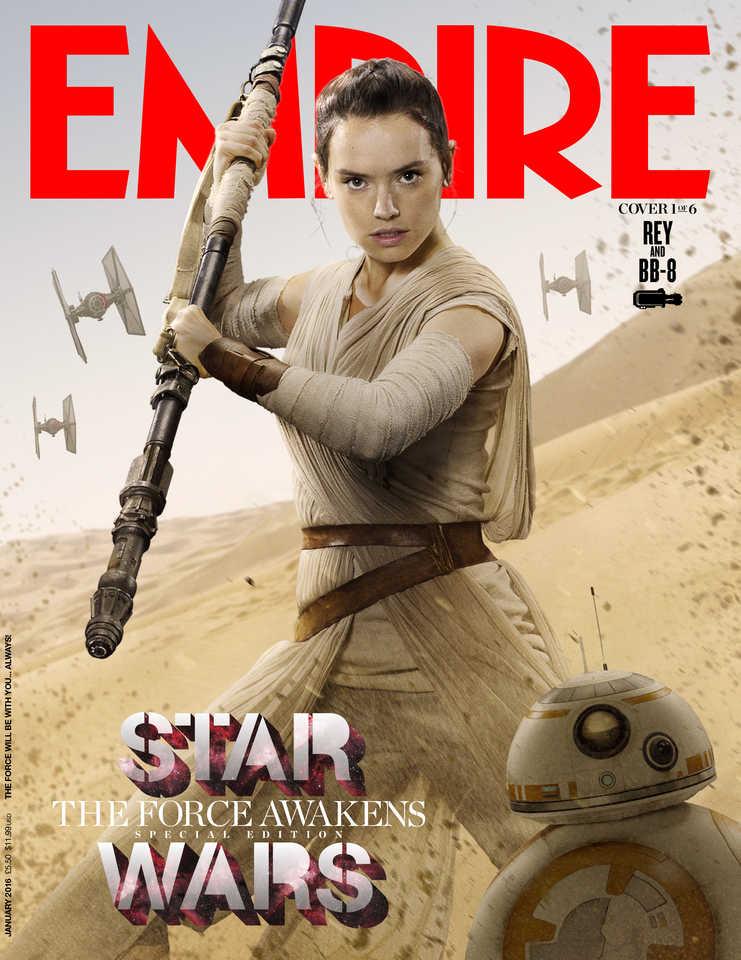 Star Wars: Il Risveglio della Forza - La cover di Empire dedicata a Rey e BB-8