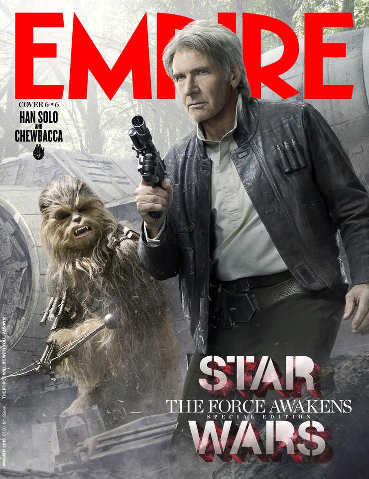 Star War: Il Risveglio della Forza - La cover di Empire dedicata a Han Solo e Chewbacca