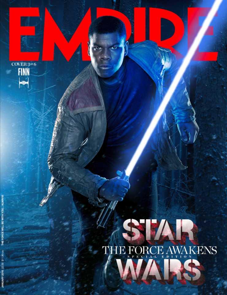 Star Wars: Il Risveglio della Forza - La copertina di Empire dedicata a Finn