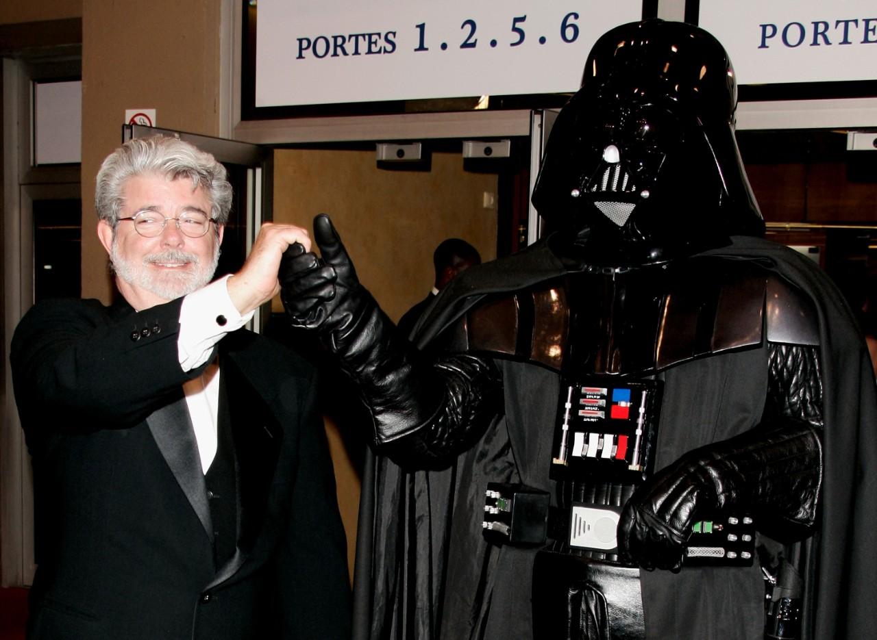 George Lucas con la sua creatura Dart Vader