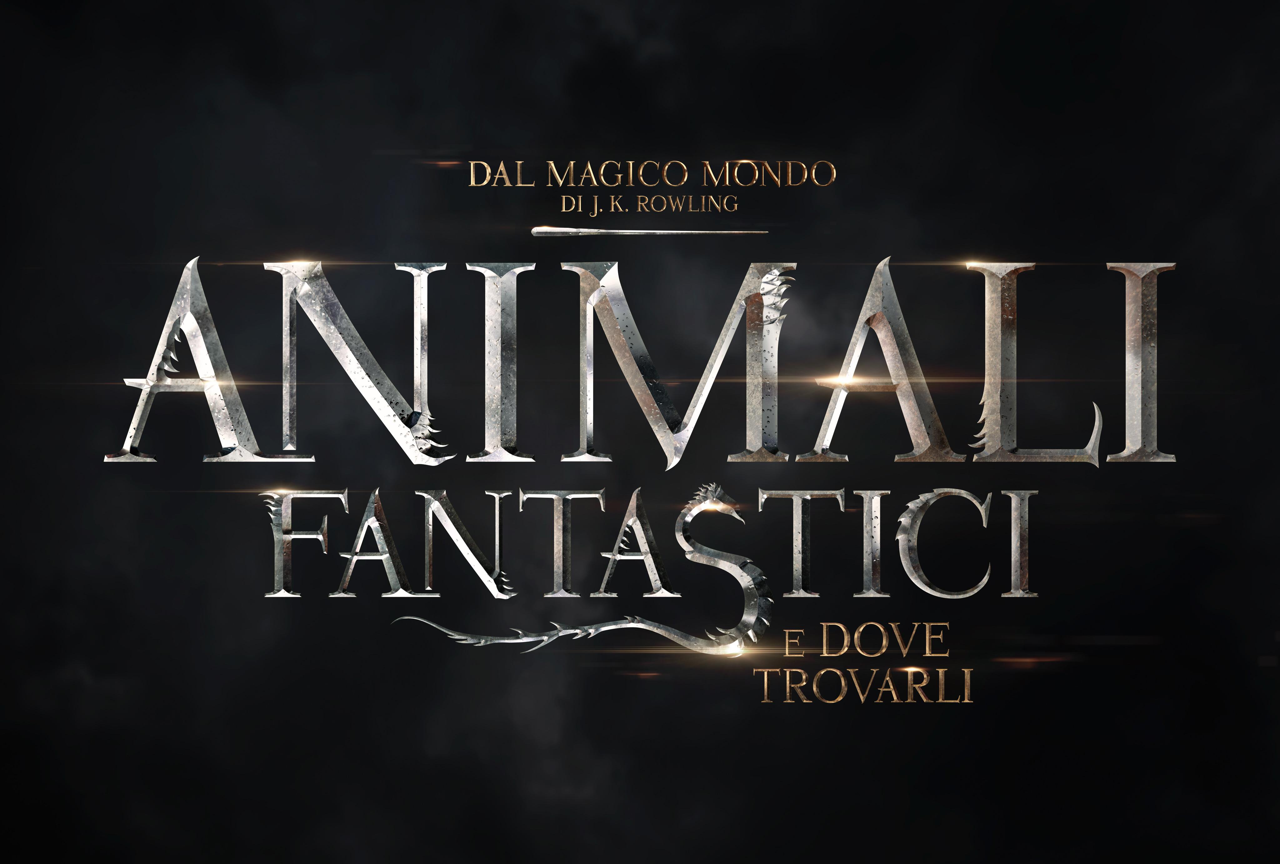 Animali fantastici e dove trovarli: il logo italiano del film