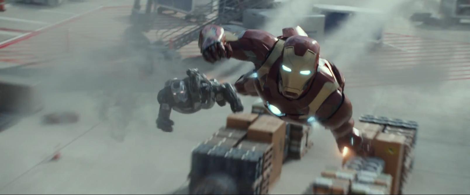 Captain America: Civil War: Iron Man e War Machine nel primo trailer del film Marvel