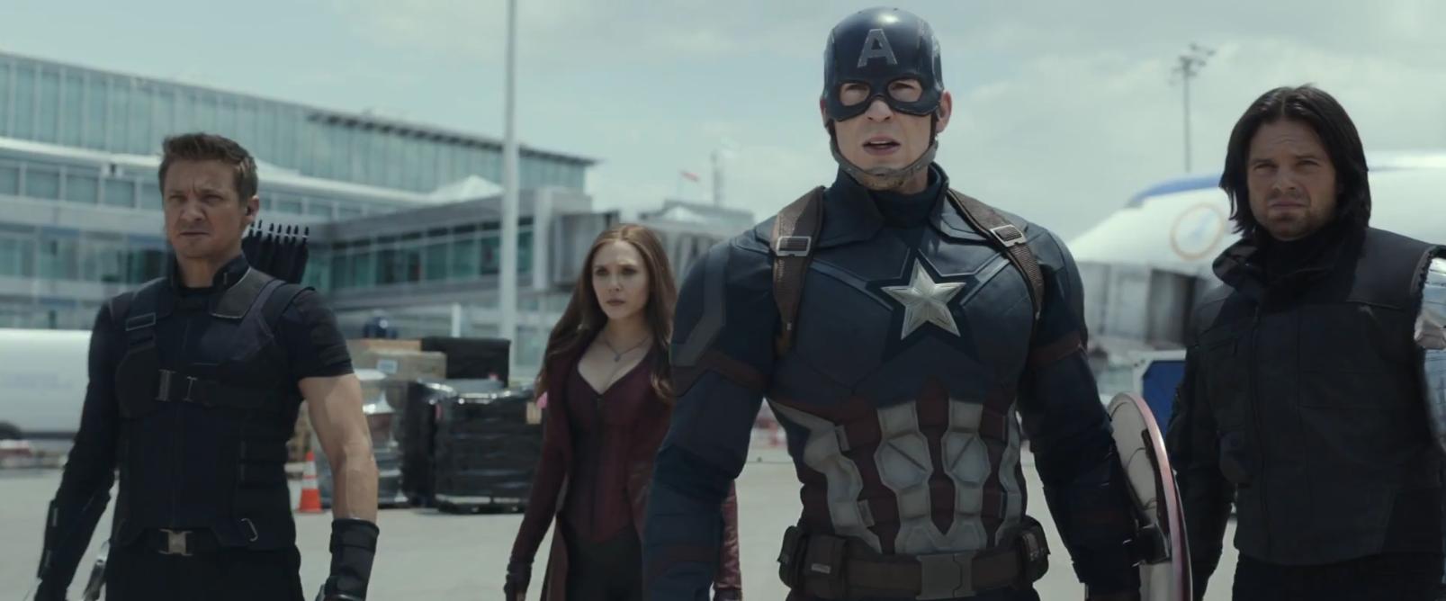 Captain America: Civil War, Cap e la sua squadra nel primo trailer del film Marvel