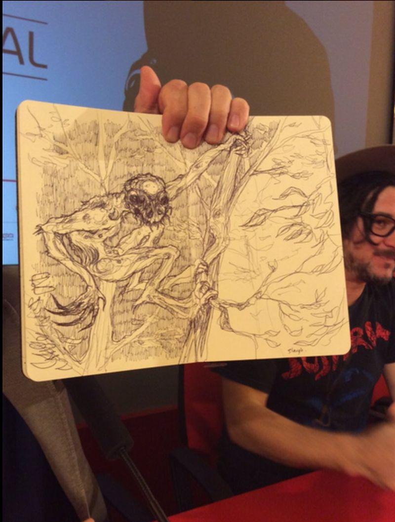 The Hallow: Corin Hardy mostra i suoi schizzi in conferenza a Torino 2015
