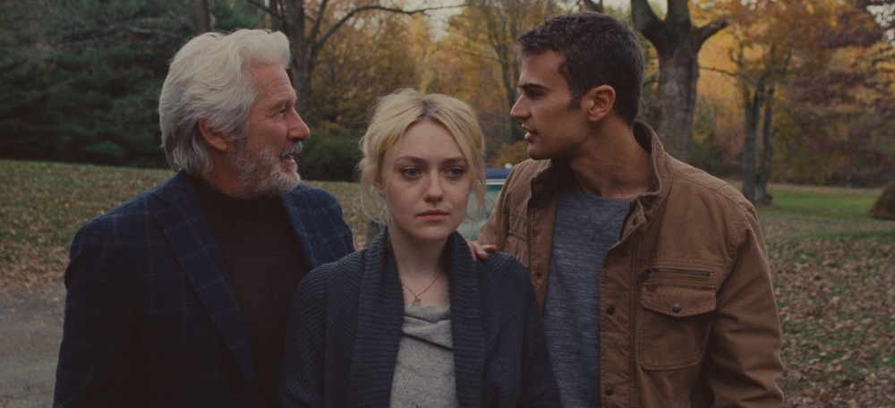 Franny: Richard Gere, Dakota Fanning e Theo James in una scena del film