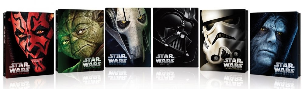 Le cover steelbook di Star Wars