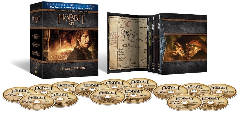 Il package di Lo Hobbit - La trilogia Extended Edition