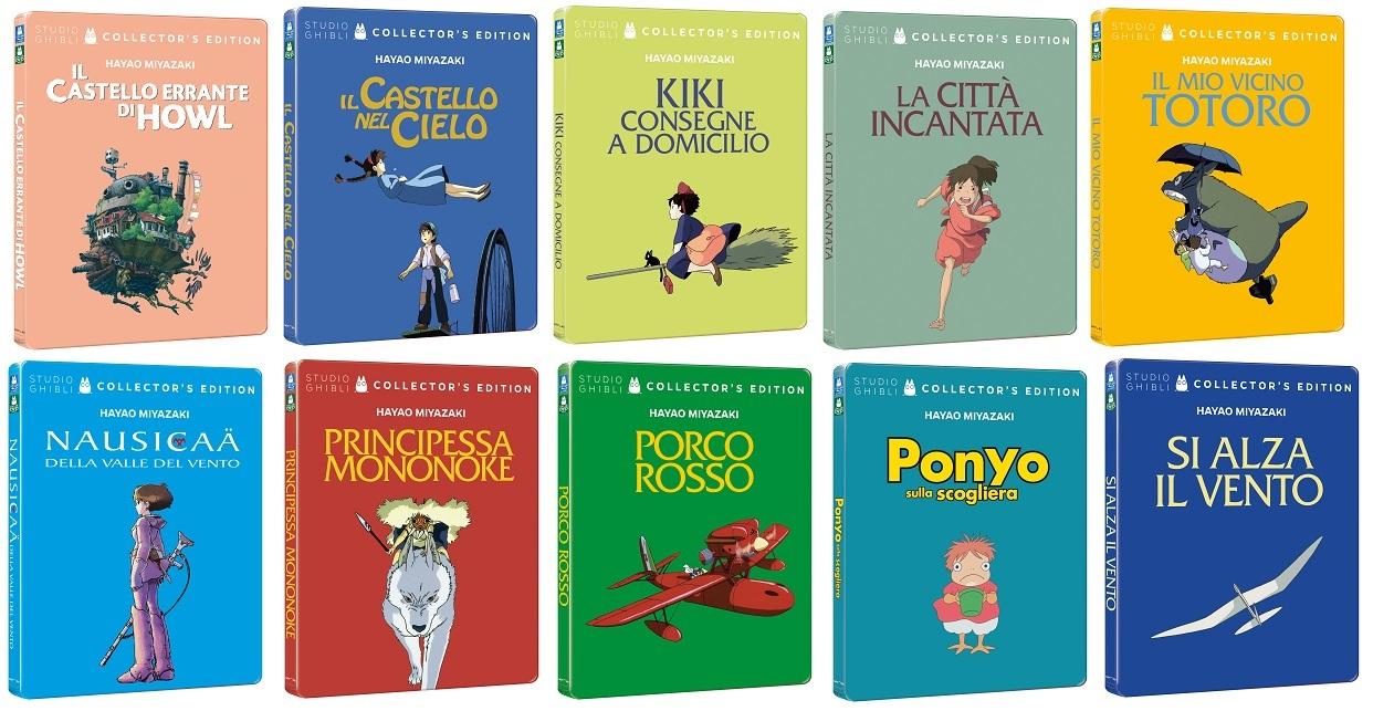 le steelbook dei film di Hayao Miyazaki